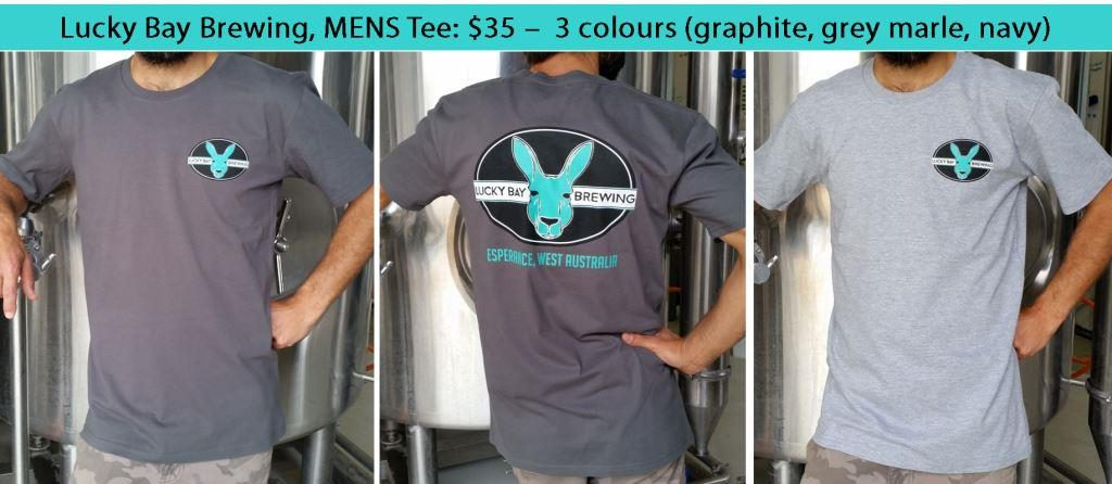 Mens tees, Lucky Bay Brewing