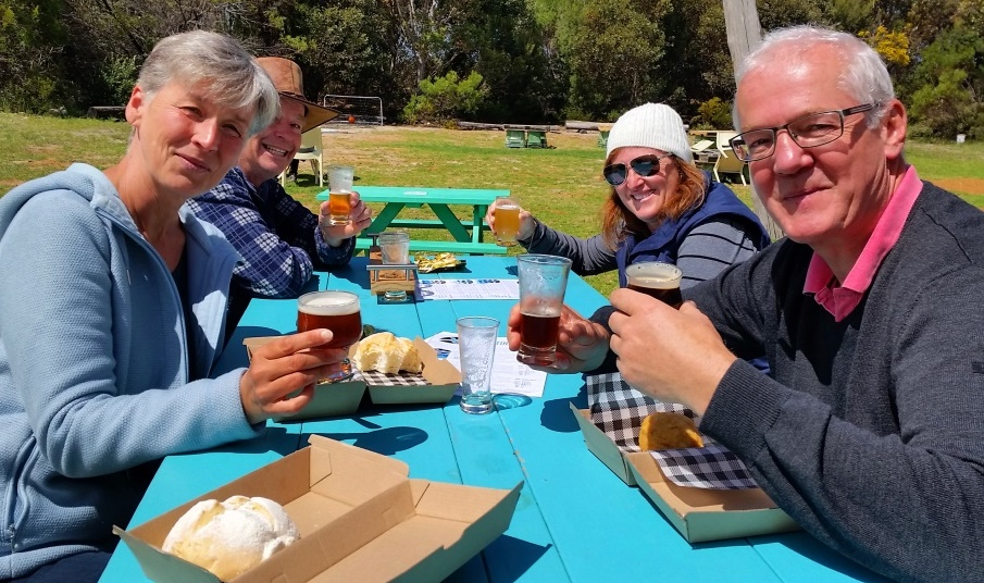 local beer, beer tastings and picnics at Lucky Bay Brewing