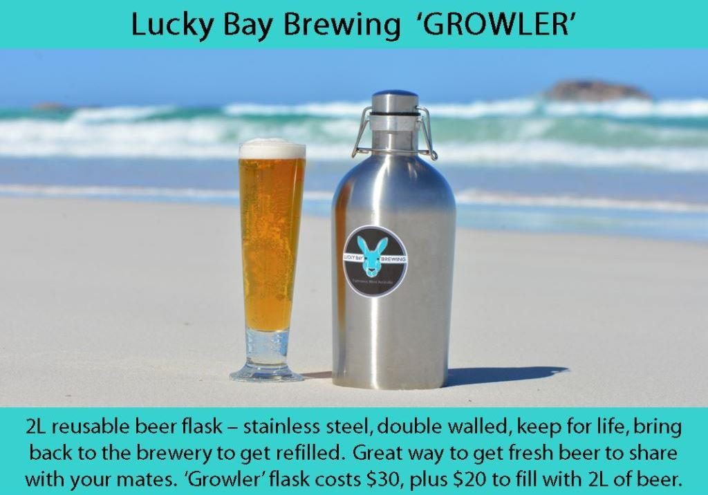 Beer growler flask